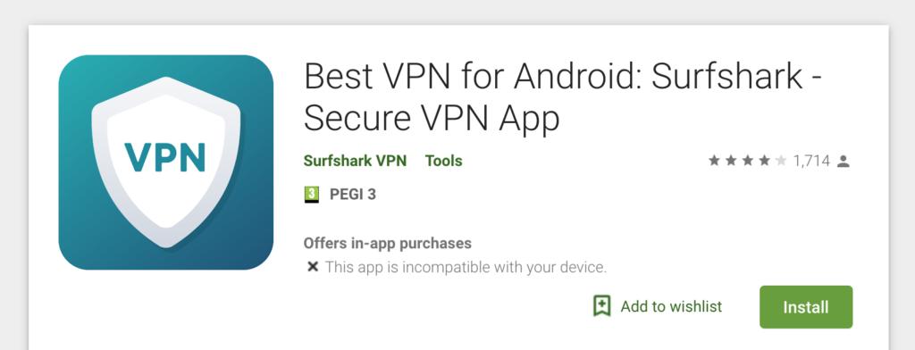 vpn for android surfshark
