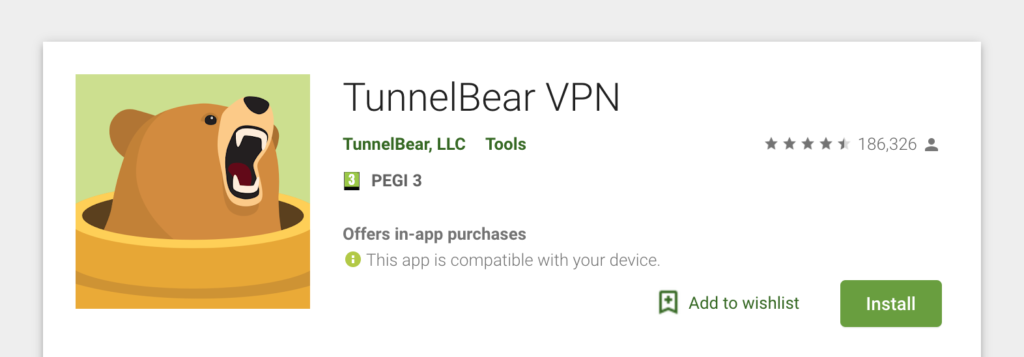 vpn for android tunnelbear